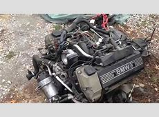 BMW 540i6 M62 M62tu 44l v8 Engine removal from a e39