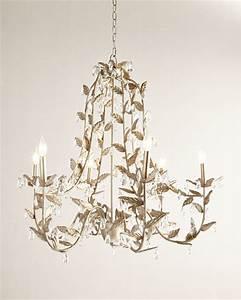 Cascading leaves light champagne chandelier