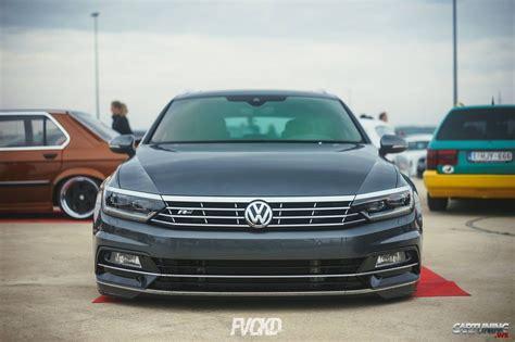 Stanced Volkswagen Passat Variant B8 front