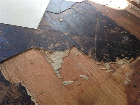 asbestos floor tile mastic removal