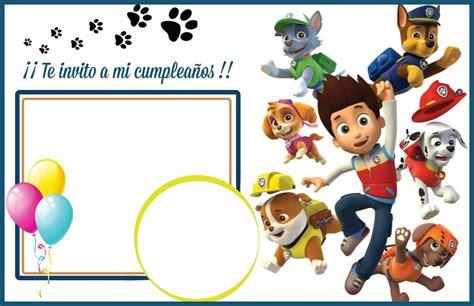 Tarjetas De Cumpleaños Invitaciones Patrulla Canina $ 45
