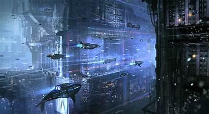 Nkabuto Cyberpunk Water Underwater Concept Dark Comics