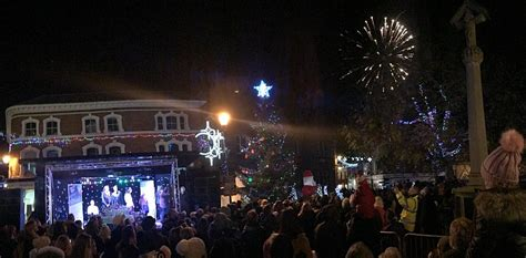 scrooge yobs damage nantwich s christmas tree and steal