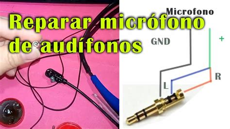 reparar micr 243 fono de audifono y cambiar de 3 5 diy