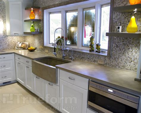 Multiple Applications For Concrete In The Kitchen
