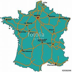 Carte De France Autoroute : carte des autoroutes de france fichier vectoriel libre de droits sur la banque d 39 images ~ Medecine-chirurgie-esthetiques.com Avis de Voitures