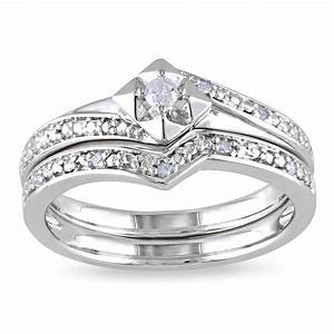 sterling silver wedding ring set with diamondwedwebtalks With silver wedding sets rings