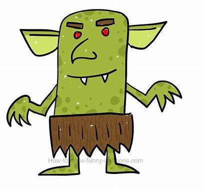 Goblin Draw Clipart Goblins Funny Cartoons Different