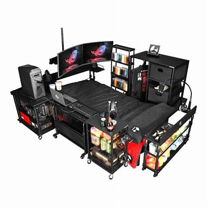 Bed Gaming Never Leave Bedroom Office Again
