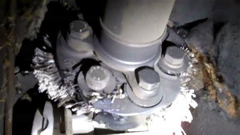 worn  mercedes front drive shaft flex disc   youtube