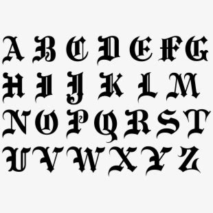 image royalty  library goth letters related keywords medieval lettering font transparent