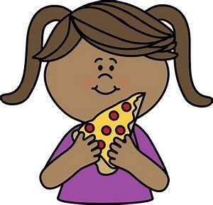 Girl Eating Pizza Clip Art - Girl Eating Pizza Image