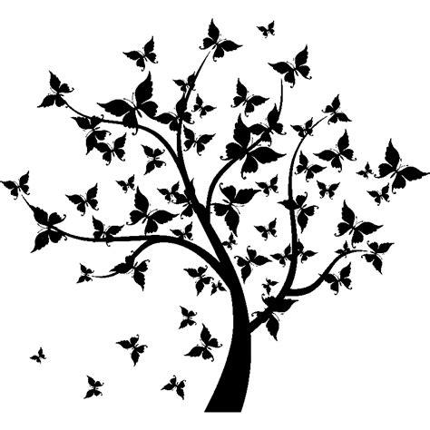 cuisine scandinave recettes sticker arbre à papillons stickers nature arbres