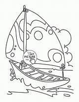 Coloring Boat Sailing Pages Nice Sailboat Transportation Printables Wuppsy Printable Boats Tags Getcolorings sketch template