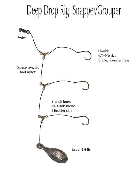 grouper chicken rig snapper drop deep rigs double