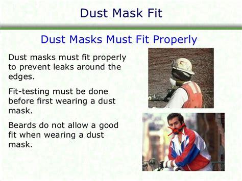 dust mask safety training