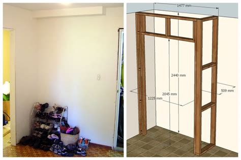 Building Wardrobe Closet by Built In Wardrobe 10 Steps With Pictures