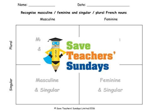 singular plural masculine feminine lesson