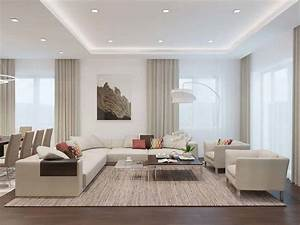 Living, Room, With, Light, Colors