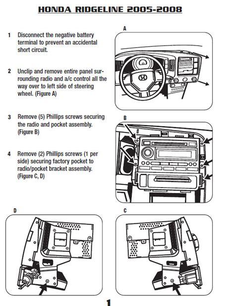 Honda Ridgeline Audio Wiring Diagram by 2008 Honda Ridgelineinstallation