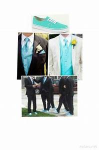 Tiffany Blue ties and vests for groomsmen