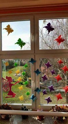 Herbstdeko Kinderzimmerfenster by Meine Gr 252 Ne Wiese Gebasteltes Hexe Mimm
