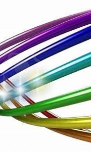 3d Rainbow Swirls (PSD)   Official PSDs