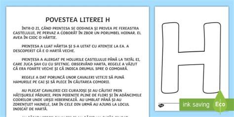 Litera H Poveste  Poveste, Povestea Literei H, Clasa Pregătitoare, Alfabet