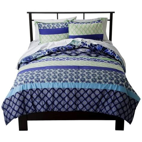 Target Bedding Sets by Reversible Comforter Set Blue Boho Boutique Target