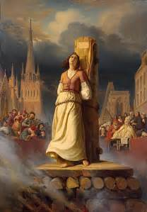Image result for Joan of Arc was burned at the stake