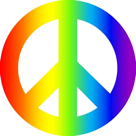 Peace Clipart Rainbow Peace Sign Free Clip