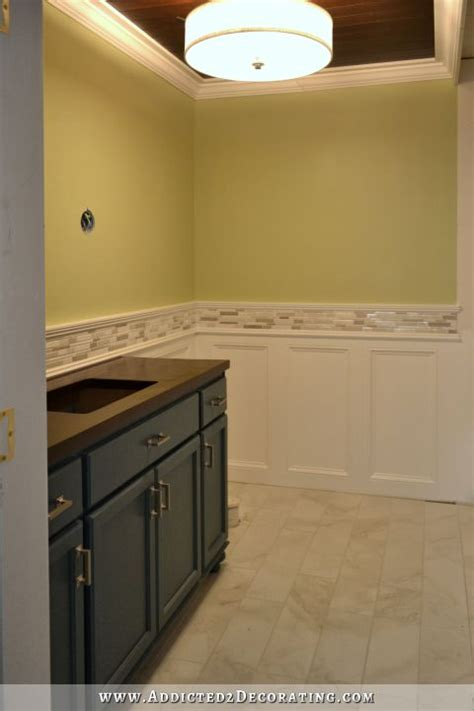 bathroom vanity backsplash ideas finished recessed panel wainscoting judges paneling with