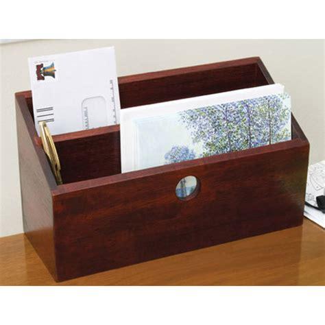 desk mail organizer letter and mail organizer cherry in desktop organizers