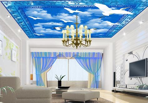 custom  ceiling murals wallpaper  walls  ciling