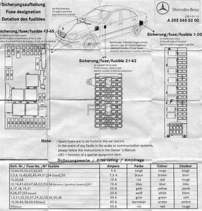 2006 Mercedes C320 Fuse Box Diagram