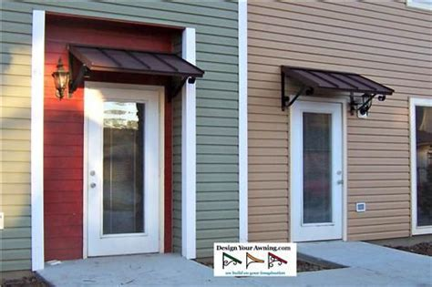 small metal awning  door  classic metal door awnings   doors   apartment
