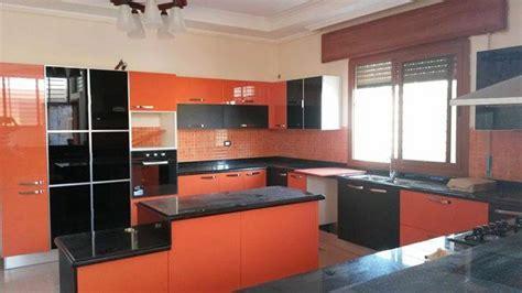 emejing meuble cuisine orange ideas awesome interior