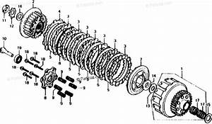 Honda Motorcycle 1982 Oem Parts Diagram For Clutch