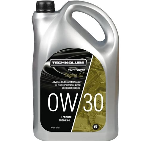 acea a5 b5 technolube engine 0w30 fully synthetic 5 litre