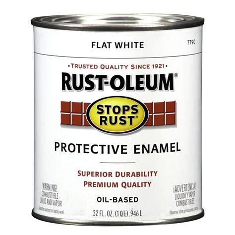 Shop Rustoleum Stops Rust White Flat Oilbased Enamel