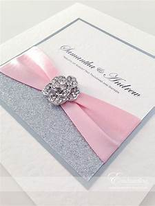 pink sparkly wedding invitations the cinderella With wedding invitations glitter border