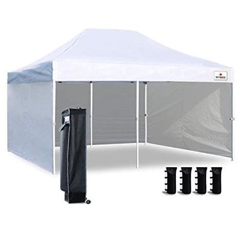 keymaya  ez pop  canopy tent commercial instant shelter  white  sides