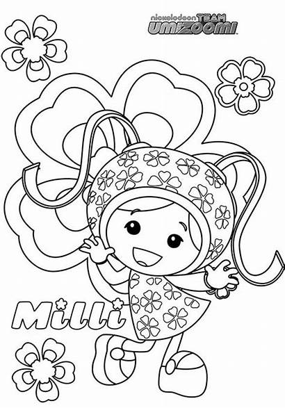 Umizoomi Coloring Team Milli Pages Birthday Geo