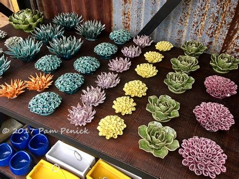 rainbow  ceramic succulents  flowers  hill country