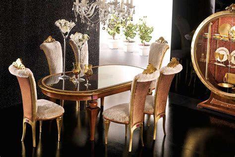 black floor with gold chair glass table luxury