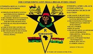 Ethiopia Africa Black International Congress: King of ...