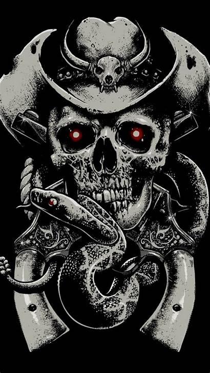 Skull Background Guns Skeleton Iphone Skulls Snake