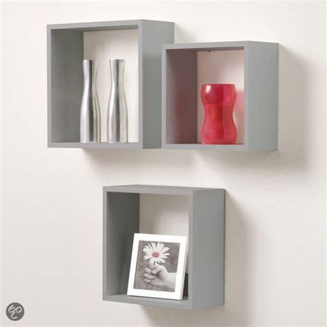 shallow cabinets kitchen duraline kubussen wanddecoratie set 3 grijs 2177