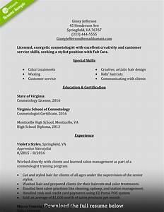 how to write a perfect cosmetology resume examples included With cosmetology resume samples