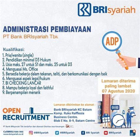 ← kantor bank bni di bandung barat, jb. Lowongan Kerja BRI Syariah - Lowongan Kerja BUMN CPNS Terbaru Bulan Oktober 2020